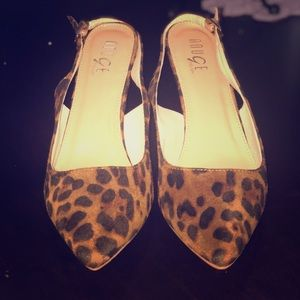 Cheetah strap small heels